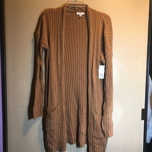 BNWT nordstroms bp long knit brown cardigan